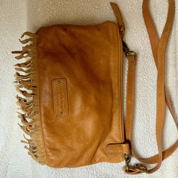 Lucky Brand Handbags - Lucky Brand Leather Fringe Crossbody Purse